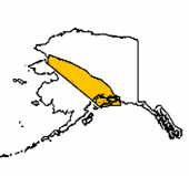 Map of Exede coverage in Alaska